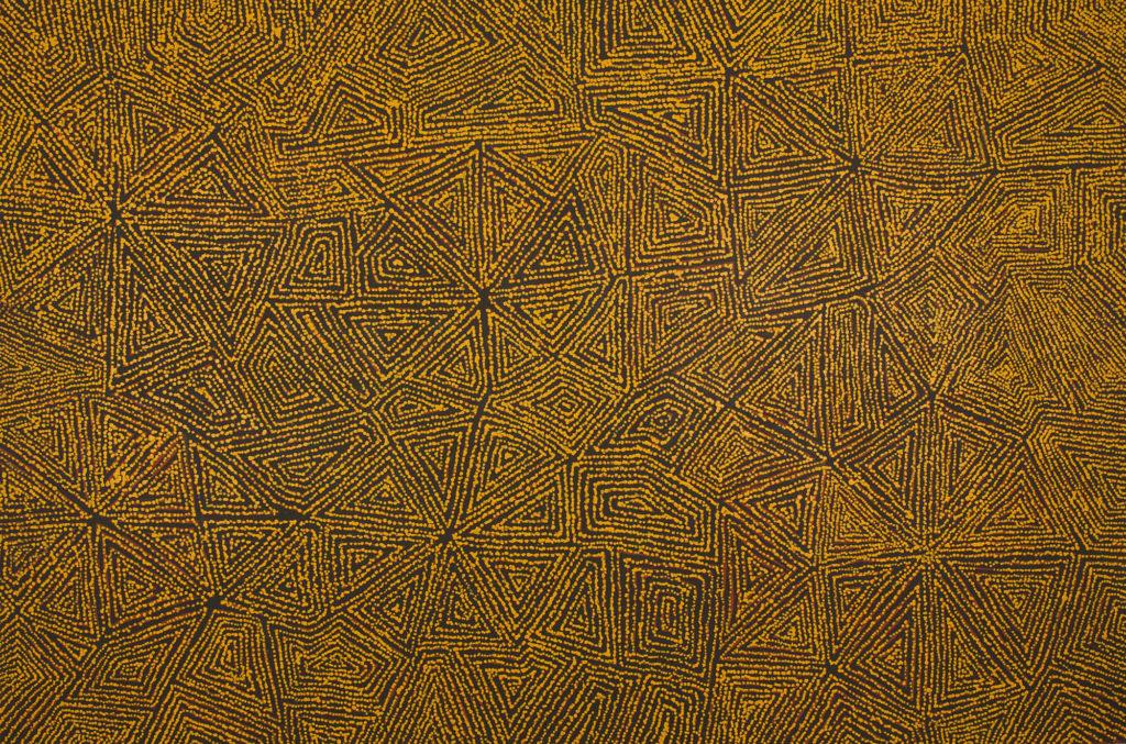 George Ward Tjungurrayi, ethnie Pintupi, sans titre, Red Dunes Gallery
