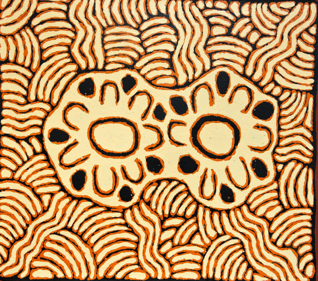 Josephine Napurrula, ethnie Pintupi, sans titre, Red Dunes Gallery