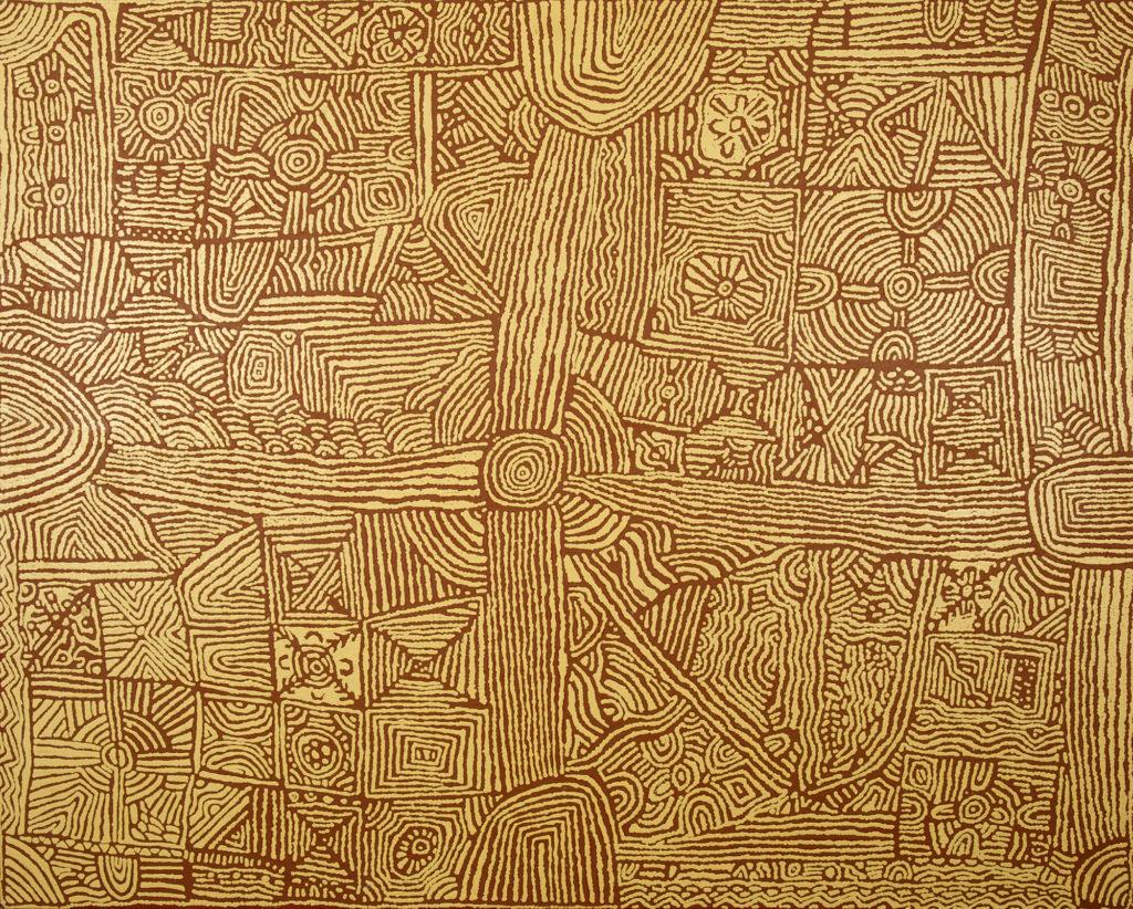 Lorna Brown Napanangka, ethnie Luritja, sans titre, Red Dunes Gallery
