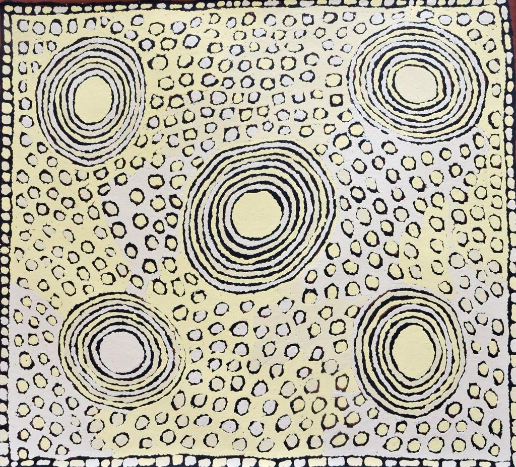 Tatali Napurrula, ethnie Pintupi, sans titre, Red Dunes Gallery