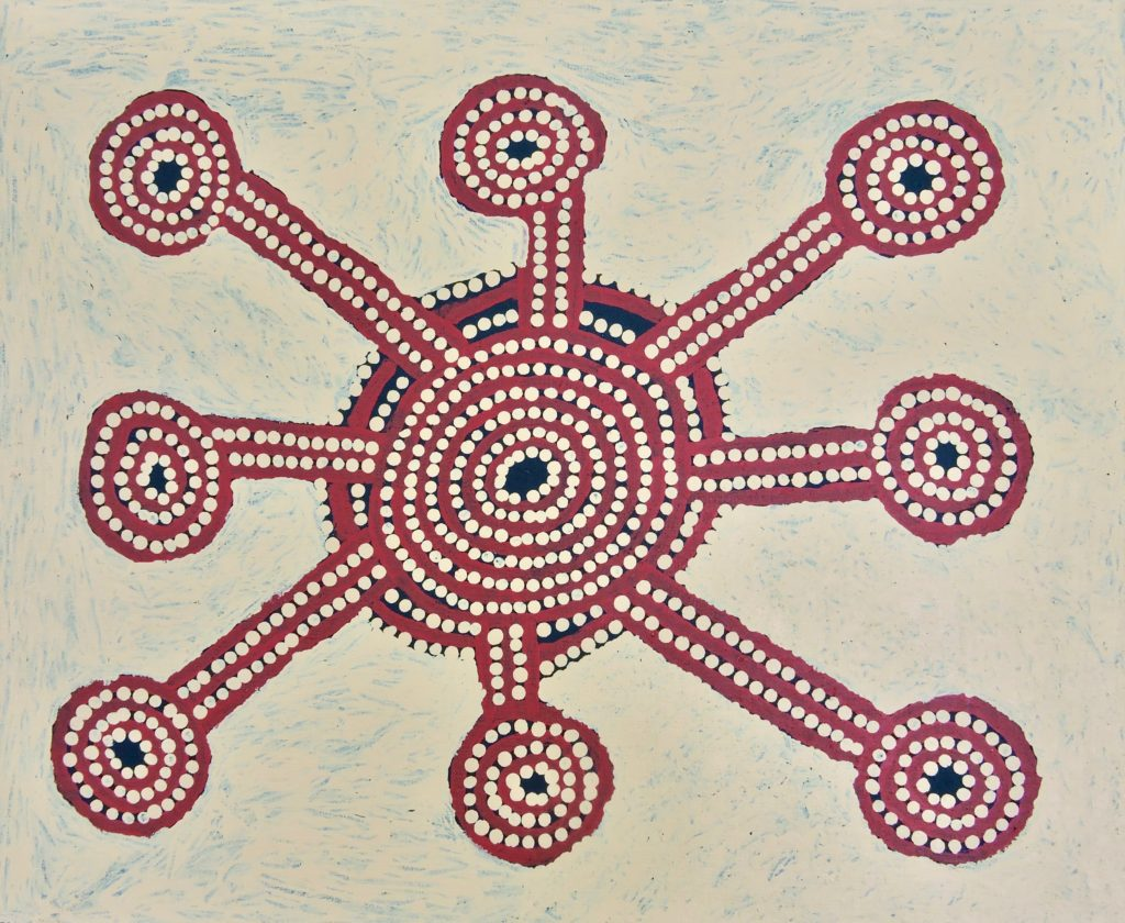 Sam Tjapanangka, Pintupi, Sans Titre, Red Dunes Gallery